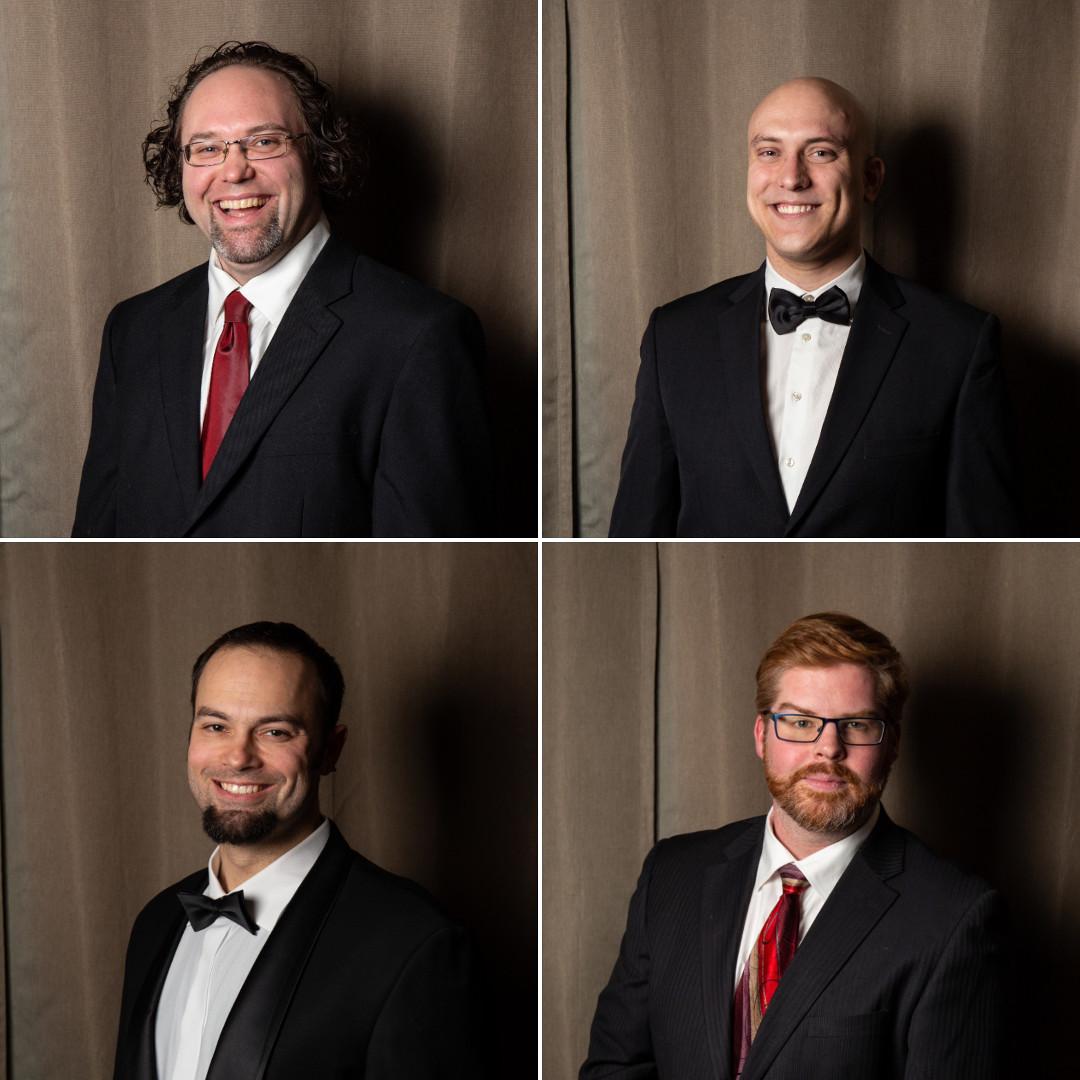 slow no tempo a cappella quartet