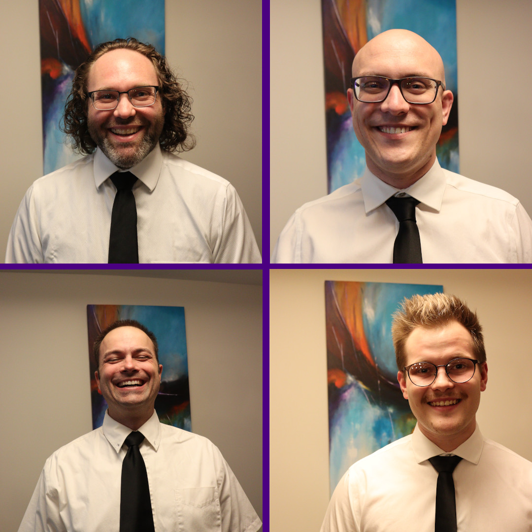 the members of slow no tempo, clockwise from top right: ryan noakes, simon walter, matt ficther, graham specht